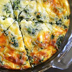 Crustless Spinach, Mushroom, & Feta Quiche