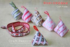 Zip-itself Ribbon Coin Purse tutorial- also called Tetrahedron Ribbon – Renaissance Ribbons