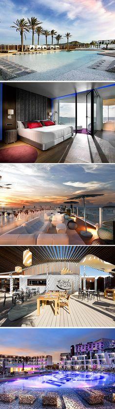 Over mooie hotels gesproken! Geef ons maar een enkeltje naar het vijfsterren Hard Rock Hotel Ibiza.