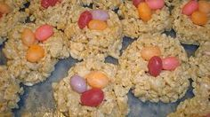 Rice Krispie Treats Bird Nests:  Rice krispie treats shaped into bird nests and filled with jelly bean eggs, what kid doesn't love these?