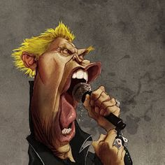 Billy Idol por Pablo Pino