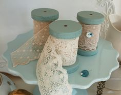 Love these spools of lace~❥