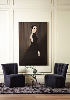 RiveraShowroom- Love the modern sophistication of the room, the light and dark contrasts.