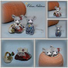 crochet mouse by Elena Nikitina