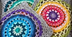 mandala square, squaring a mandala, crochet motifs, mandala