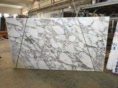 Amazing arabescato marble from Vagli quarry - 3 cm slabs polished finish Arabescato Marble, White Marble, Tuscany, Natural Stones, Facade, Quartz, Flooring, Interior Design, Antiques