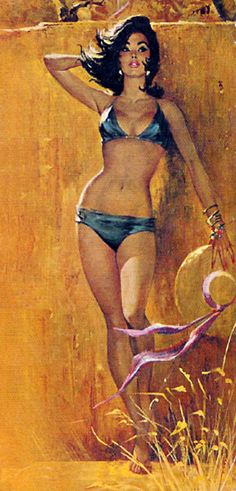 """Charles Copland cover art for """"Love in the Sun"""" by Gerald Gohier, 1962"""