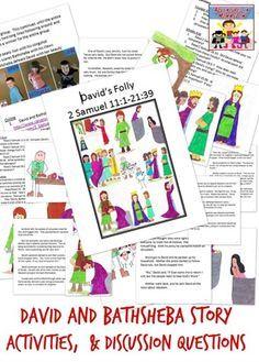 David And Bathsheba For Kids Bible Story CraftsBible