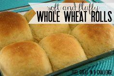 Soft & Fluffy Whole Wheat Rolls