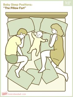 """Our newest BABY SLEEP POSITION: """"The Pillow Fort"""""""
