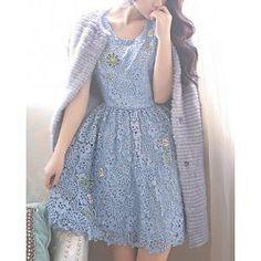 Crochet Baby Blue dress