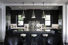 Black on Black Kitchen Design