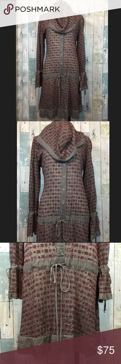 Johnny Was Hooded Eyelet Dress Excellent condition! Smoke free and pet free home. Johnny Was Dresses Midi