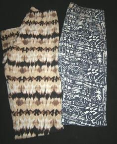 LOT of 2 pr. Leggings size XS: by Hollister & Material Girl, Dk. Blue White, Bro #HollisterMaterialGirl