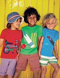 Sommerliches T-Shirt mit Sportmotiv 21607 Oberteile & T-Shirts bei Boden
