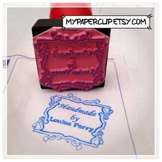 Floral frame stamps for handcrafters and small business labelling.