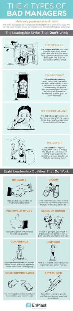 The 4 Types of Bad Managers | Project Management | Pinterest
