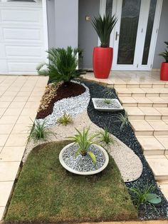 70 Magical Side Yard And Backyard Gravel Garden Design Ideas 36 Gravel Landscaping, Small Front Yard Landscaping, Gravel Garden, Landscaping With Rocks, Landscaping Ideas, Mailbox Landscaping, Gravel Patio, Zen Garden Design, Landscape Design