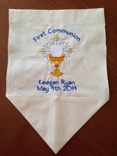 Personalized First Communion Banner with Ornate by SEWMEEM on Etsy