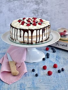 Sweet Life, Cake Decorating, Decorating Ideas, Tea Time, Panna Cotta, Cheesecake, Food And Drink, Cooking Recipes, Sweets