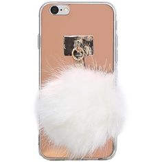Mirrored Iphone 6/6s Pom Case ($15) ❤ liked on Polyvore featuring accessories, tech accessories, cases and rose gold