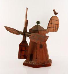 Folk Art Windmill Whirligig