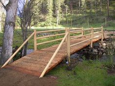 caution before building bridge s on a small stream on your property, landscape, outdoor living, ponds water features Pond Bridge, Garden Bridge, Small Bridge, Pond Water Features, Bridge Design, Diy Pergola, Outdoor Projects, Ranch, Outdoor Structures