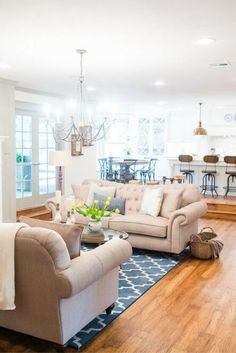 Who's ready for a Fixer Upper living room? If you don't know who Chip and Joanna Gaines are from the hit HGTV show Fixer Upper, then here is a dose of fabulous from them! Joanna is known for her rustic… Continue Reading → Decor, Home Decor Inspiration, House, Dream Living Rooms, Home, Fixer Upper Living Room, House Interior, House In The Woods, Interior Design