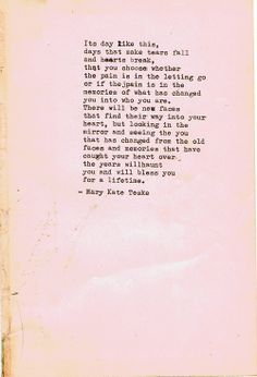 Typewriter poem #45 | Mary Kate Teske