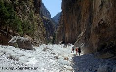 Hiking in Samaria Gorge, south Crete, Greece