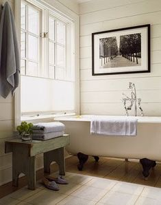 White panneled bathroom