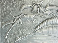 One Day Sale Wall Hanging Pewter Repousse Horse Steeplechase Design £15.00