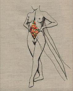 Arte E Anatomia... Bordado de Andrea Farina