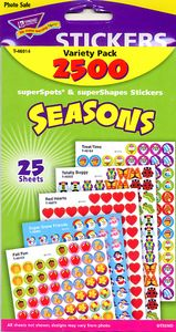 Teacher > Reward Stickers > Seasons Variety Pack Stickers by Trend: Stickers Galore