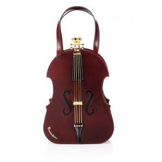 BRACCIALINI BAG VIOLIN Rigid leather handbag shaped like a violin. Features typical wintry colours and detail. Made and processed by hand in Italy. Unique Handbags, Unique Purses, Unique Bags, Vintage Purses, Vintage Handbags, Creative Bag, Novelty Bags, Cute Bags, Beautiful Bags