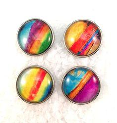 Rainbow Colors Snap Charm Snap Jewelry Popper Snap Noosa by Monibu