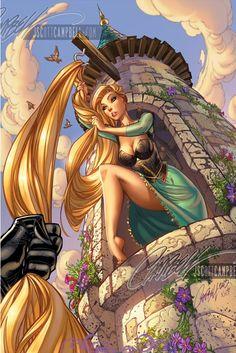 J. Scott Campbell - Fairytale Fantasies - Rapunzel