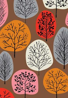 Sucette arbres rouge édition limitée giclée par EloiseRenouf, $25.00