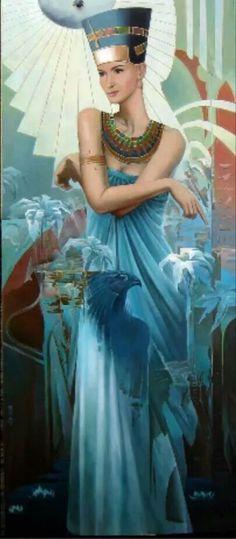 Blue Queen Nefertiti