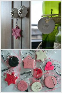 leuke hangers kan je zelf maken voor kerst de klei koop je bij de action en dat leuke vormen enz. maken.