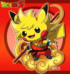 3c69b068a Pikachu - Dragon Ball Z, Pokemon Pokemon Fan Art, Cute Pokemon, Pokemon  Dragon