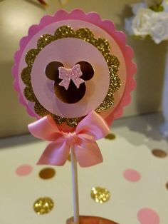 Pink And Gold Minnie Mouse Mini Popcorn box Gold & Pink party Minnie Mouse Cupcake Toppers, Minnie Mouse Theme Party, Minnie Mouse Baby Shower, Minnie Mouse Pink, Minnie Birthday, Birthday Parties, Pink Parties, Mouse Parties, Pink Party Favors