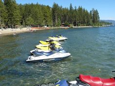 Kings Beach State Recreation Area is a Fantastic Lake Tahoe Beach - lots of boat rentals available!