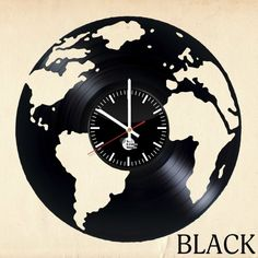 Globe Vinyl Record Unique Wall Clock – Roel Fikkers – Join the world of pin Record Wall Art, Vinyl Record Clock, Vintage Vinyl Records, Vinyl Records Decor, Vinyl Record Crafts, Vinyl Art, Clock Art, Diy Clock, Clock Ideas