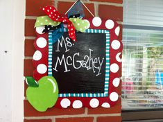 Charming Teacher Door Hanger by craftigirlcreations on Etsy, $22.00