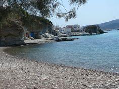 The beach at Rema, Kimolos, Greece