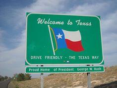 Texas, state sign, USA