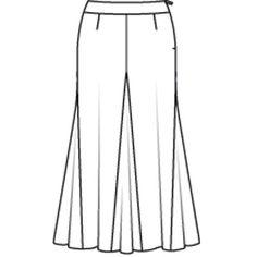 skirt 133 (plate) - 09/2009 - AVEC 1, FAIS EN 4 4 variantes trendy de la jupe trapèze burdafashion.com
