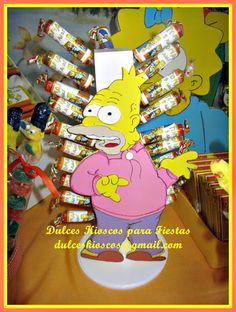 """""""Dulces Kioscos para Fiestas"""" : Cumple tematico """" Los Simpsons"""""""