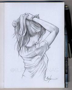 Image may contain: drawing Girl Drawing Sketches, Art Drawings Sketches Simple, Beautiful Drawings, Easy Drawings, Drawing Artist, Sketch Girl Face, Girl Pencil Drawing, Simple Cute Drawings, Creative Pencil Drawings